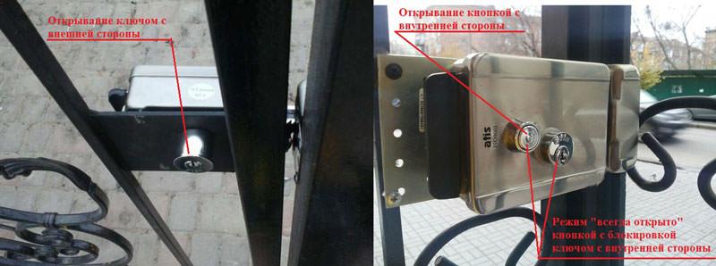 Механические механизмы открывания замк