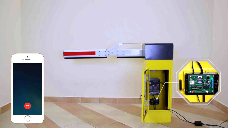 GSM-модуль для управления шлагбаумом