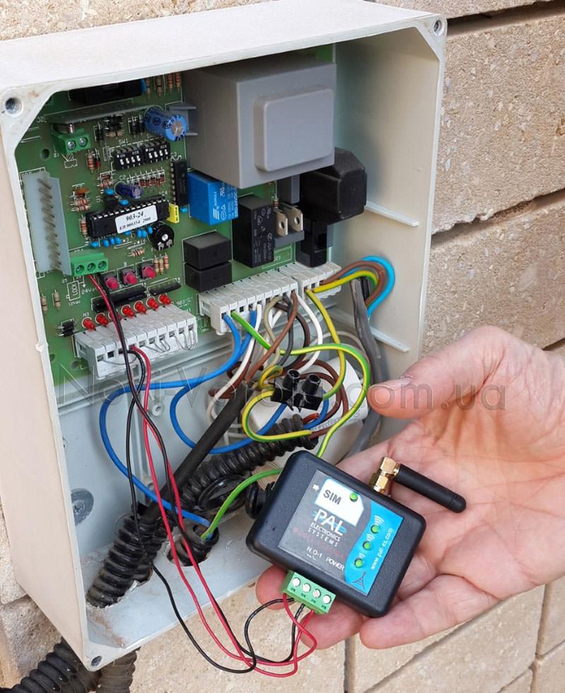 Подключение GSM-модуля к блоку управления
