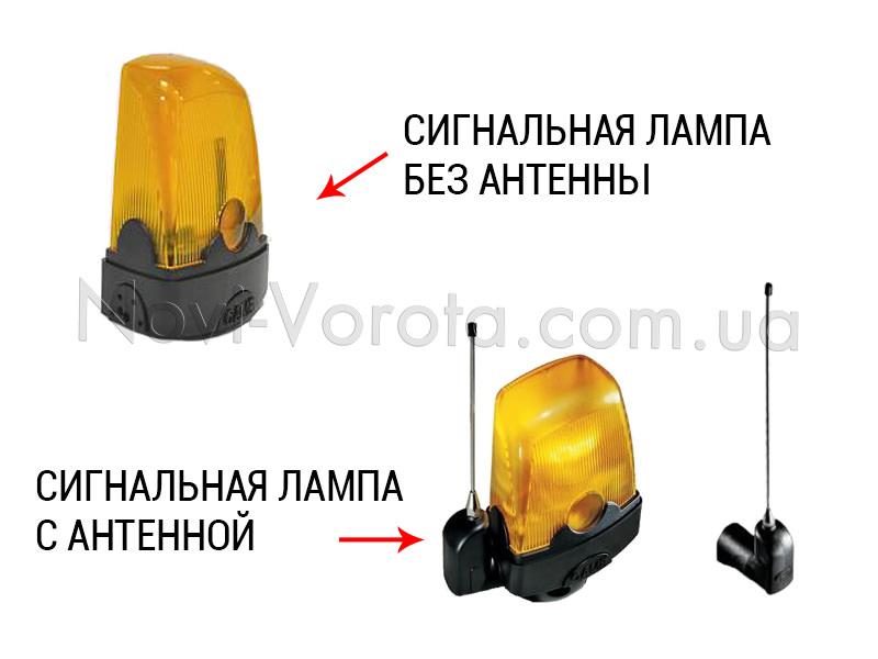 Сигнальная лампа с антенной и без нее