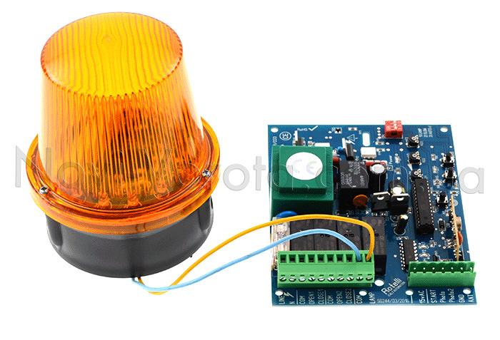 Подключение сигнальной лампы к плате управления