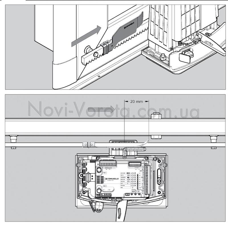 Принцип работы механической системы концевых выключателей