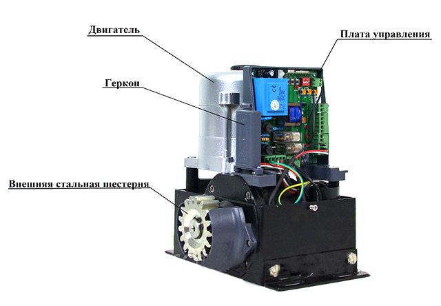 Электропривод МТ-1000 со снятой крышкой