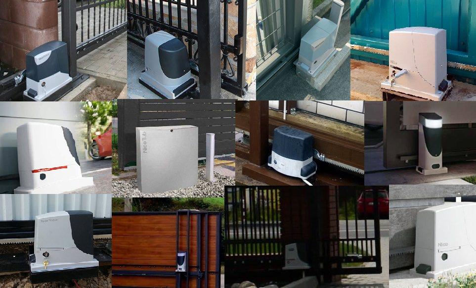 Электропривод Nice на откатных воротах