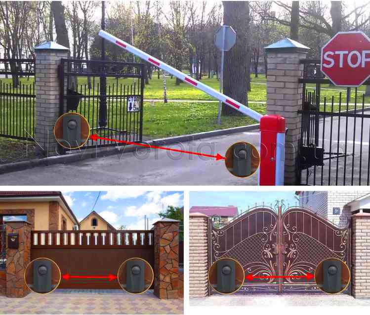 Фотоэлементы на воротах