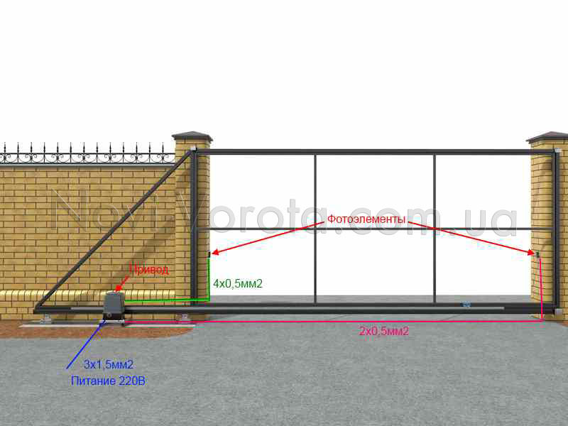 Электросхема для подключения фотоэлементов