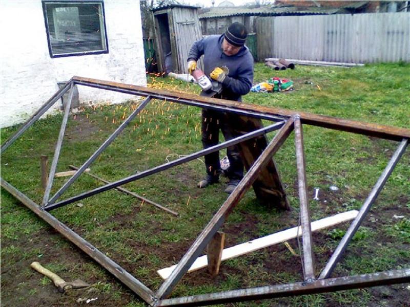 Процесс изготовления ворот
