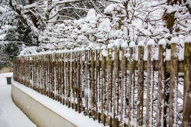 Заснеженный забор