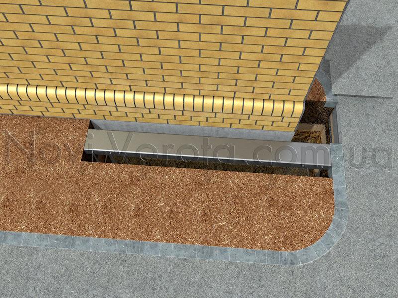 Фундаментная яма со швеллером