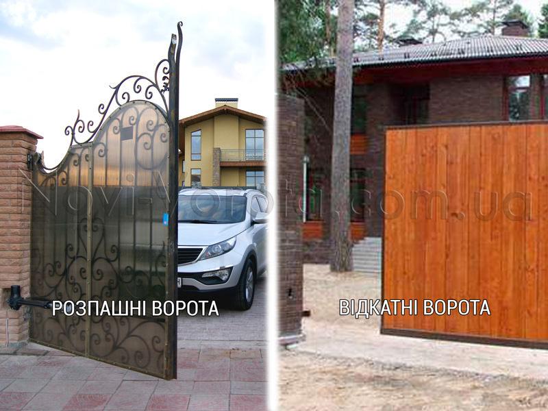 Розпашні та відкатні ворота