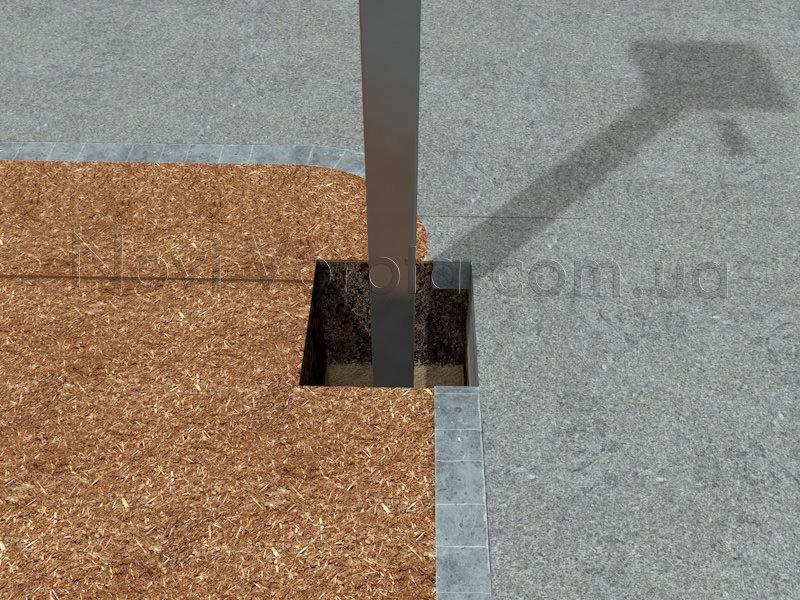 Квадратная труба в приямке