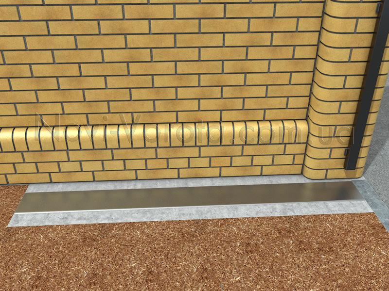 Швеллер в бетоне