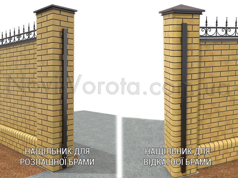 Нащільники для воріт різних конструкцій