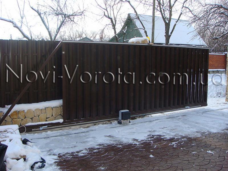 автоматические ворота зимой