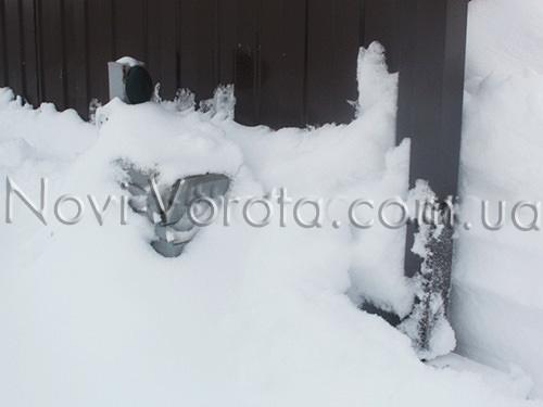 Автоматика с магнитными концевиками нормально работает зимой