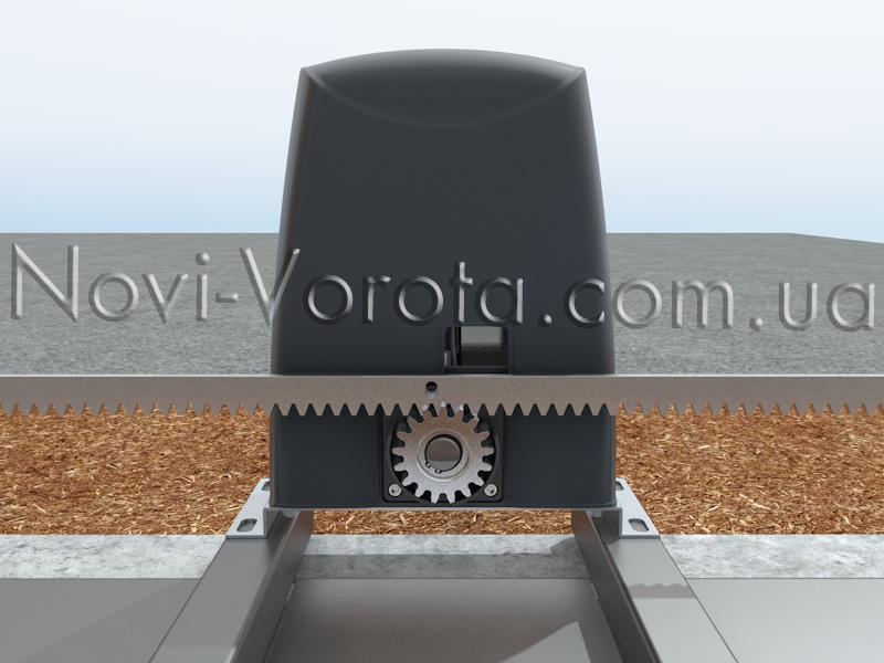 Сцепление зубчатой рейки с внешней шестерней электропривода Rotelli Premium
