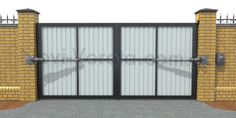 Автоматизированные распашные ворота