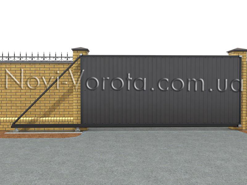 Готовые откатные ворота.