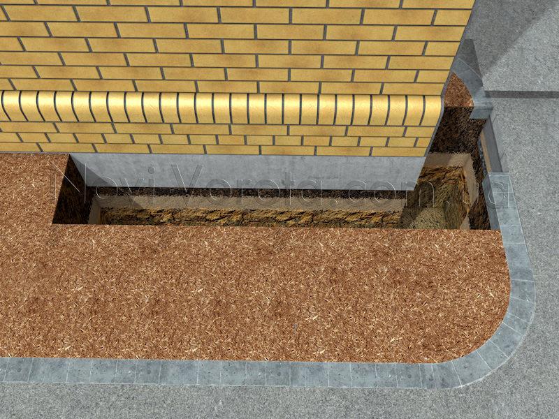 Приямок под фундаменты столба и роликовых опор.
