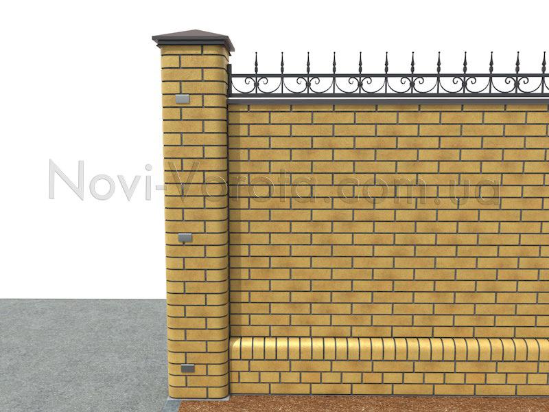 Опора ворот с закладными деталями.