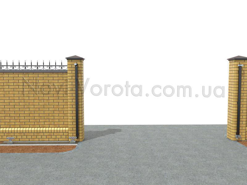 Фурнитура на воротах.