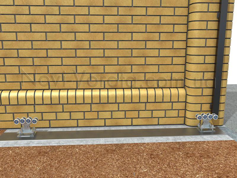 Роликовые опоры, закрепленные на рельсе