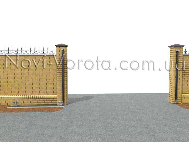 Фурнитура откатных ворот консольного типа.
