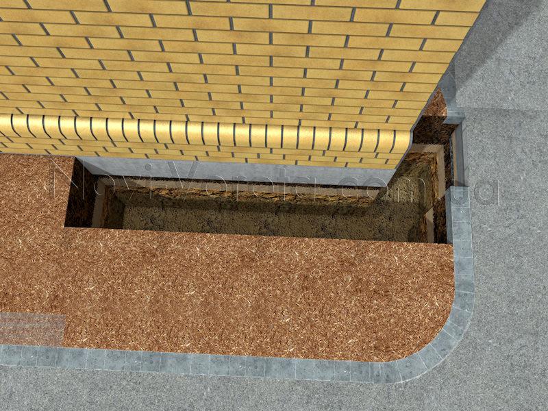 Приямок для фундамента под швеллер роликовых опор