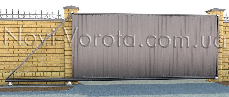 Установленные ворота в закрытом положении