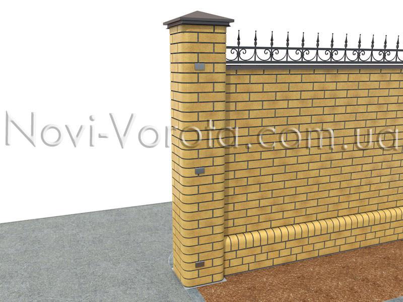 Закладные детали в опоре ворот.