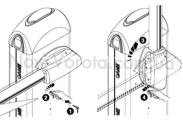 Механизм снятия блокировки шлагбаума