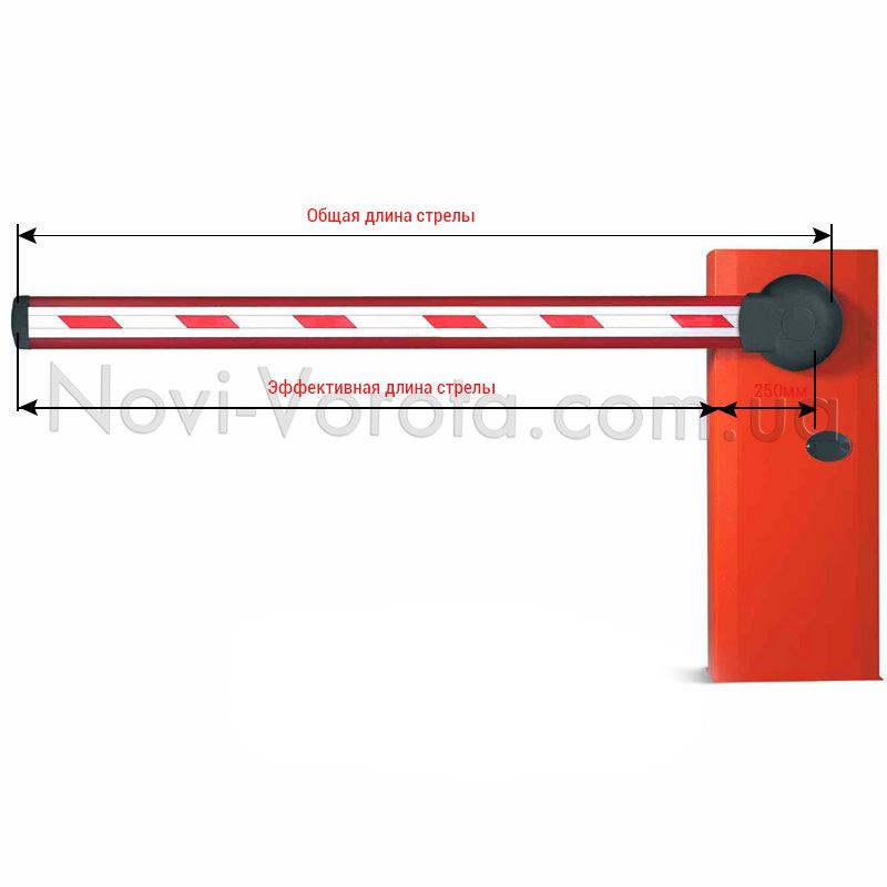 Две длины стрелы шлагбаума
