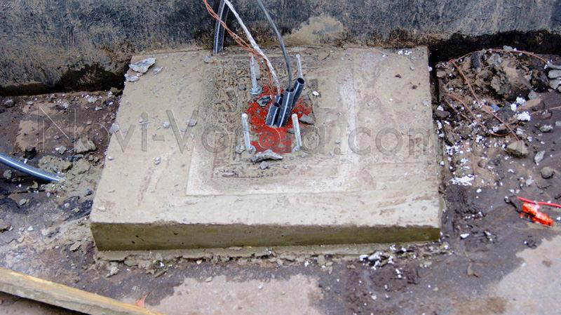 Фундамент под тумбу
