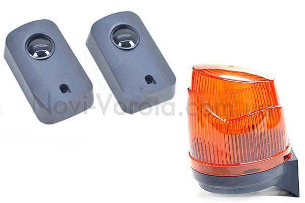 Сигнальная лампа и фотоэлементы