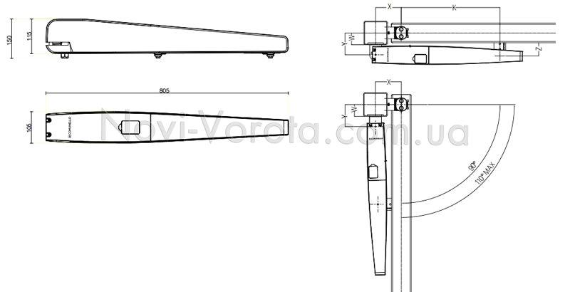 Схема установки Comunello Abacus 224