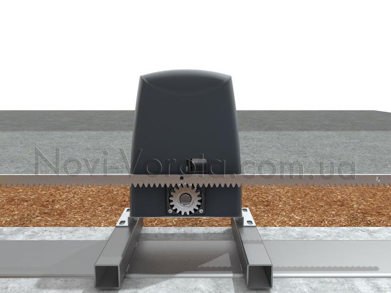 Зубчаста рейка та зовнішня шестерня електроприводу