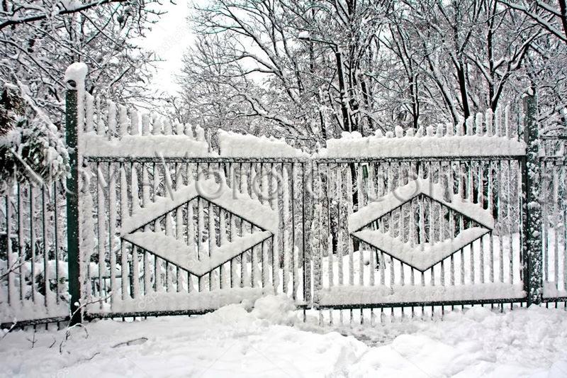 Снег на воротах