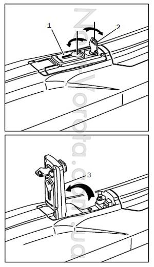 Механизм разблокировки привода.
