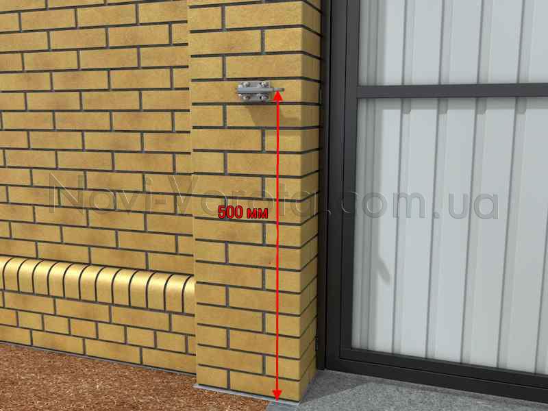 Высота установки монтажного кронштейна