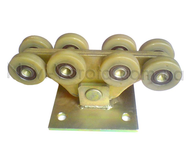 Роликовая опора с роликами из полимеров