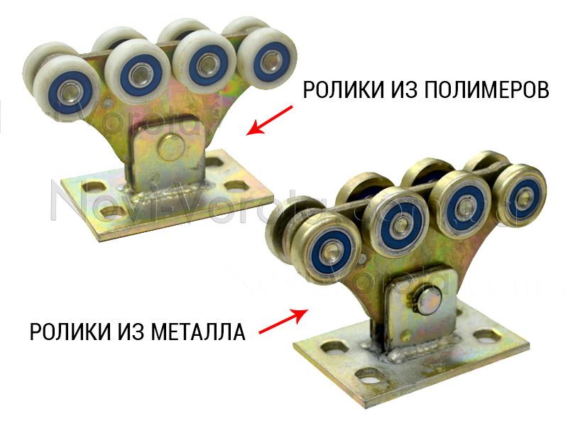 Ролики из полимеров и ролики из металла