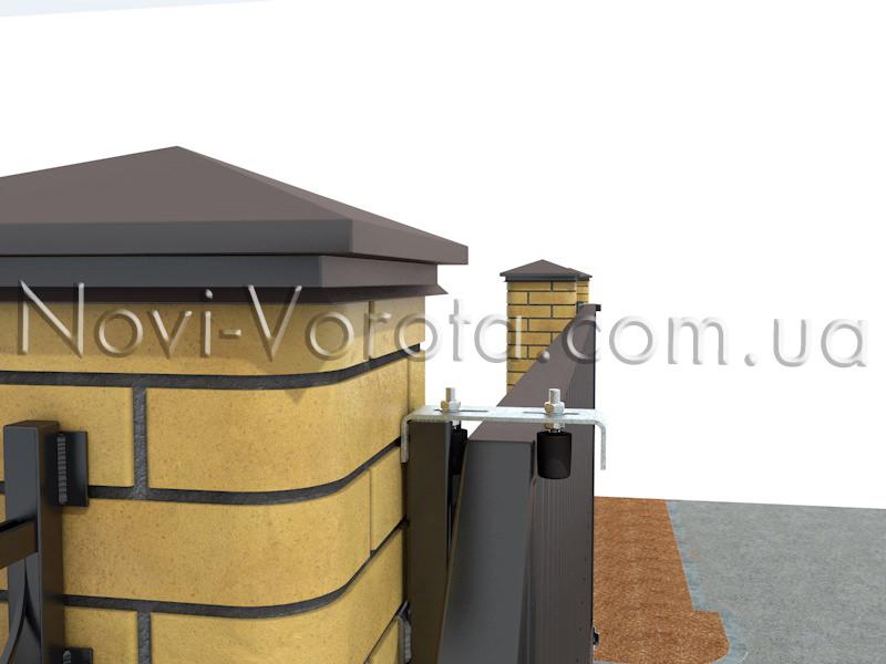 Верхние ролики: схема установки для откатных ворот. Фурнитура для откатных ворот Ужгород