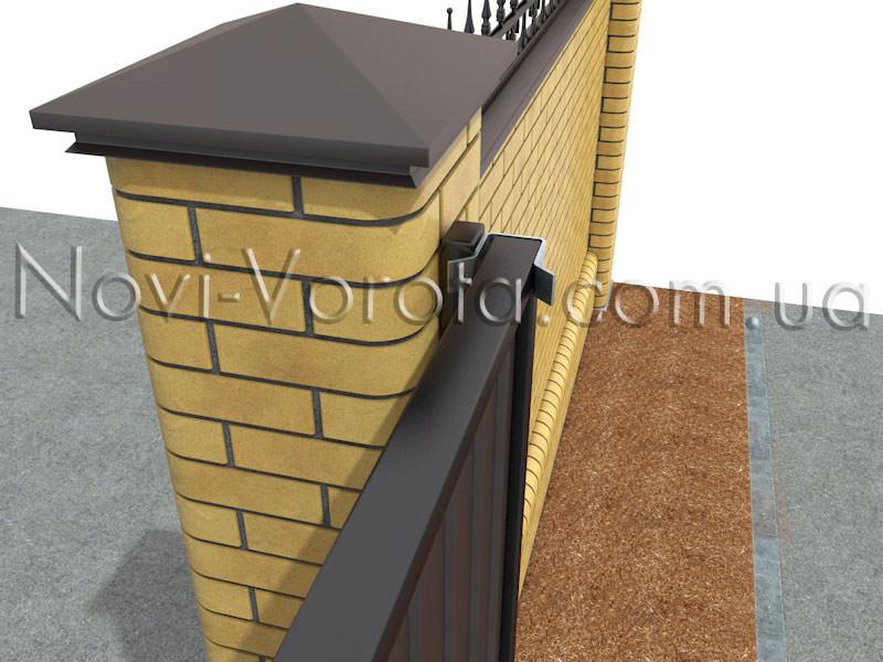 Верхний улавливатель откатных ворот: установка. Купить фурнитуру для откатных ворот в Ровно