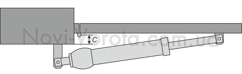 Схема кріплення лінійного приводу