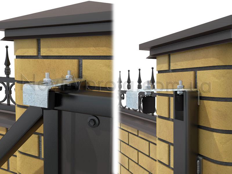 Верхняя пластина с роликами на воротах