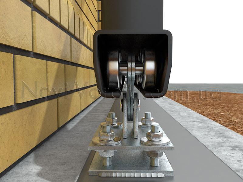 Роликовые опоры в направляющем рельсе