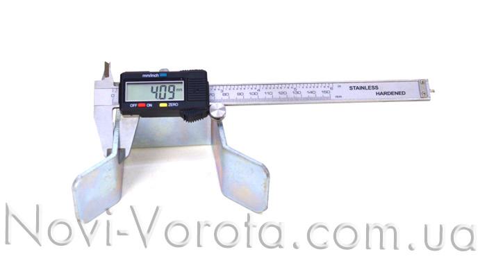 Вимірювання товщини сталі верхнього уловлювача