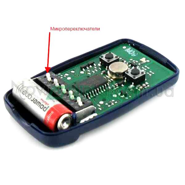 Микропереключатели пульта FLO