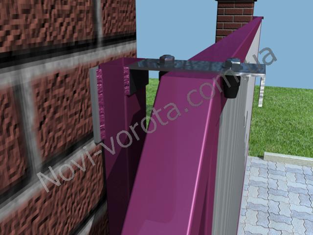 Верхние ролики. Откатные ворота - схема, чертеж, устройство, конструкция, расчет, инструкция по монтажу и изготовлению