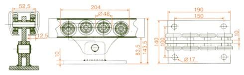 ролики (роликовые каретки, роликовые опоры) для откатных ворот